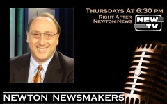Newton Newsmakers – postcard, side 1